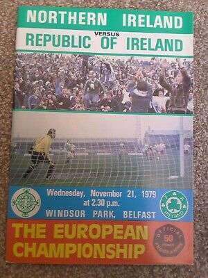 Northern Ireland  v Eire 1979 Euro nations programme