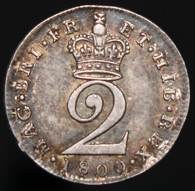 1800 | George III Twopence | Silver | Coins | KM Coins