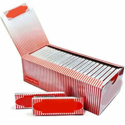 Box 50 Booklets Moon Red Cigarette Tobacco Rolling Papers 2500 Leaves Proper TU
