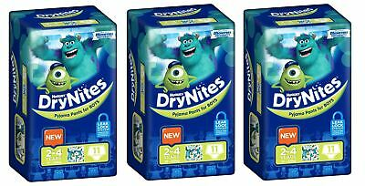 Huggies DryNites Boys 2-4yrs 13-20kg BULK 3x11