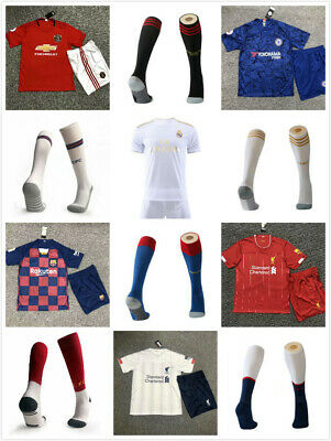 19/20 Chelsea Home Blue Kid Adult Football Kits Soccer Suits Jersey Strip +Sock