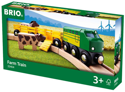Brio 33404 Farm Train | Toy Train for Kids Age 3 and Up