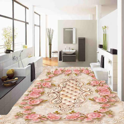 Retro Pattern Bud 3D Floor Mural Photo Flooring Wallpaper Home Print Decoration