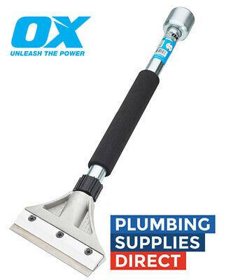 OX Tools Pro Heavy Duty Scraper 5″ with 18″ Handle & Hammer End