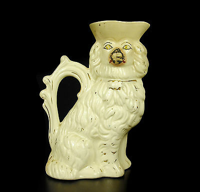 Pot, Pitcher Dog Earthenware of Stafforshire Earthenware Dog Pot H:19cm XIX ° Th