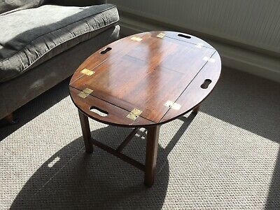 butlers tray table antique