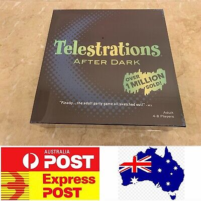 Telestrations After Dark, Popular Adult Party Board Game, AU Stock