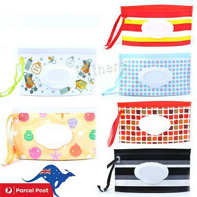 Clean Carrying Case Wet Wipes Bag Home Trendy Pouch Wipes Container Baby New AU