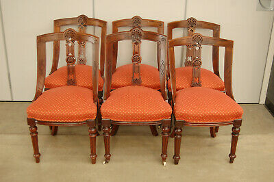 Set of 6 arts And crafts dining chairs,home ,lounge,wooden,carved,original