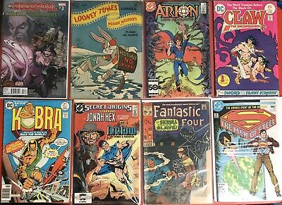 VTG Mixed Comic Books Lot Of 8 Golden Bronze Silver Mod Age DC Marvel Comics VGC
