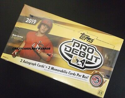 2019 Topps Pro Debut Baseball Hobby Box FREE SAME DAY PRIORITY SHIPPING