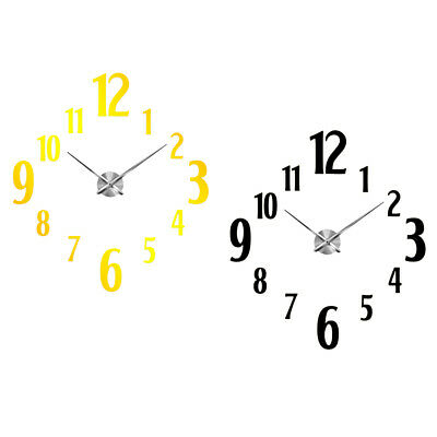 DIY 3D Mirror Surface WalL Clock Large Number Mute Clock Sticker Home Decor