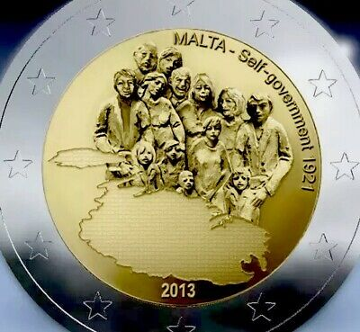 Malta Coin 2€ Euro 2013 Commemorative Autonomy Self Government UNC From Roll