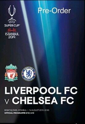 2019 Super Cup Final programme Liverpool v Chelsea in Istanbul + 1 Free posters