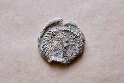 BYZANTINE LEAD SEAL/ BYZANZ SIEGEL OF SERGIUS WITH MOTHER OF GOD (7th c.).NICE!