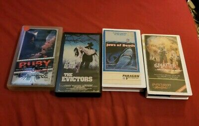 Horror VHS lot Ruby The Evictors Mako Jaws Of Death Splatter Architects Of Fear