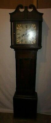 Antique Grandfather Longcase Clock By Halliday of Bridgewater C1800s Vintage