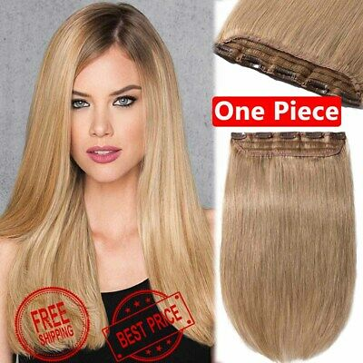 AAAAA Indian One Piece Clip In 100 Remy Human Hair Extensions Ear To Ear Weft Z9