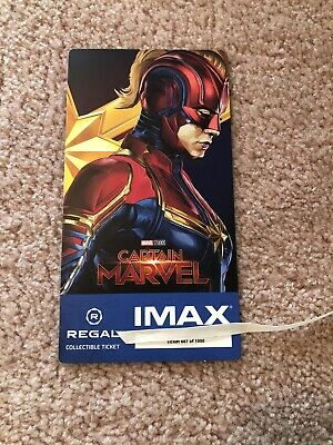 Captain Marvel Collectible #887 Of 1000 Week 2 Regal IMAX Ticket Brie Larson