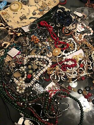 Mixed Costume Jewellery Job Lot - New And Used Items