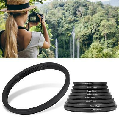 8 PCS Lens Filter Ring Adapter Set 49-52-55-58-62-67-72-77-82mm For Canon Nikon
