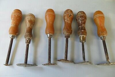 6 Vintage Clay Plaster Modelling Turning Tools