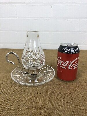 Rare Vintage Waterford Crystal Lismore Candle Finger Chamber Lamp