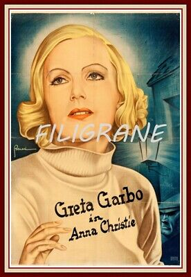 ANNA CHRISTIE FILM GARBO Roqg-REPRODUCTION 60x90cm d'1 AFFICHE VINTAGE (BR*)