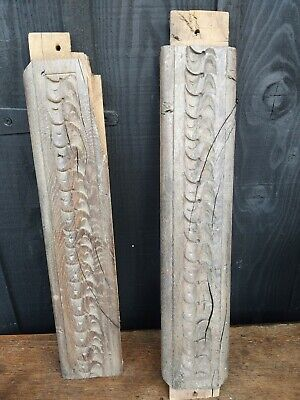 4 Pieces Of 17th Century Carved oak