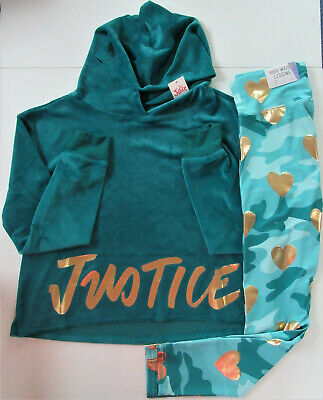 NWT GIRLS SZ 14//16 JUSTICE LEGGING OUTFIT LOGO MESH//FLIP SEQUIN S//S  SCHOOL!A8,9