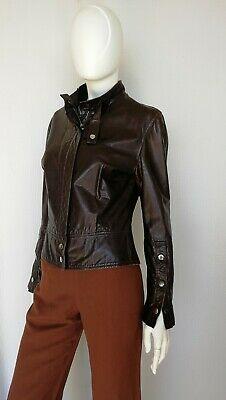 0b1e1afbbd GIACCA DONNA IN pelle nera ATOS LOMBARDINI / Black leather jacket ...