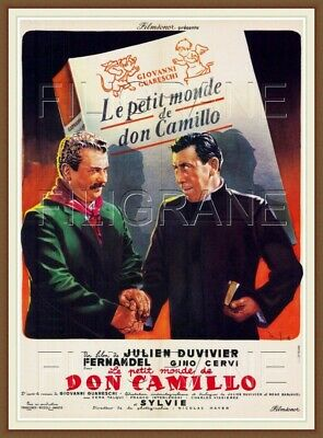 DON CAMILLO FILM FERNANDEL Rwgd POSTER/REPRODUCTION 40x60cm* d1 AFFICHE VINTAGE