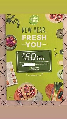 $50 Hello Fresh Gift Card DIGITAL Instant Delivery + Ships FREE USPS First Class