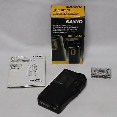 Sanyo TRC 525M TalkBook VAS MicroCassette Voice Recorder Dictaphone - Tested