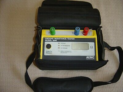 AEMC 3640 3-Point Digital Ground Resistance Tester w/ Case