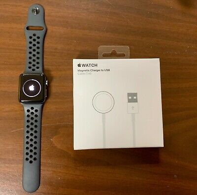 Apple Watch 3 Nike+ 38mm Space Gray Aluminum Case with Anthracite/Black band