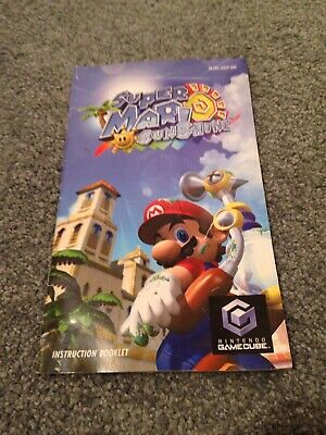 Manual Only (no Game)- Super Mario Sunshine - GameCube