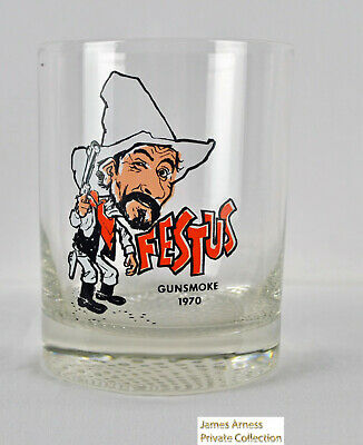 "James Arness Marshal Dillon Gunsmoke 1970 ""Festus"" Glass"
