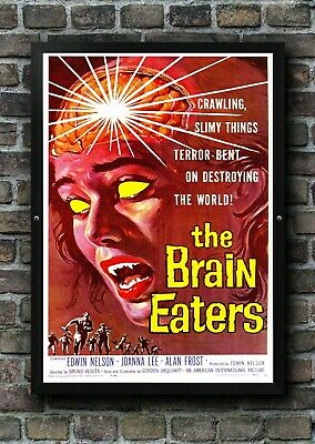 Vintage The Brain Eaters Sci Fi Movie Film Poster Print Picture A3