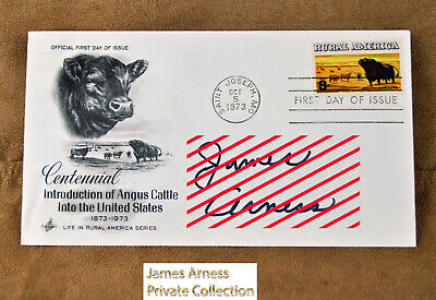 James Arness Gunsmoke Marshal Dillon FDI Centennial Intro of Angus Cattle Signed
