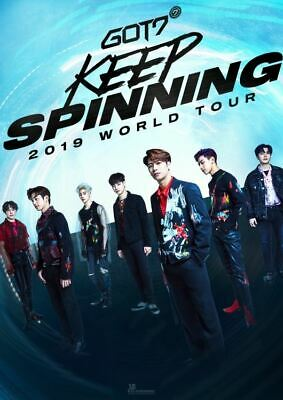 Got7 2019 World Tour Keep Spinning Official Goods Voice Keyring Key Ring New