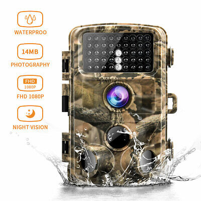 Campark Trail Camera 14MP 1080P Infrared Night Vision Game Wildlife Hunting Cam
