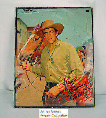 James Arness Gunsmoke Marshal Dillon VTN Whitman 1958 11 X 14 Tray Puzzle Signed
