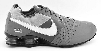 b8ecfd887df31 Mens Nike Shox Deliver Running Shoes Size 11 Gray White Black 317547 010