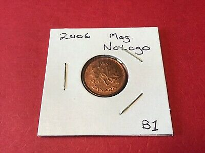 Rare Canada 2006 One Cent Magnetic No Logo No P