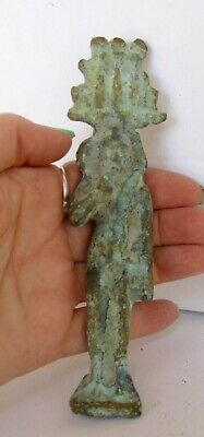 "5 1/4""  TALL ANTIQUE EGYPTIAN  BRONZE SITTING GOD ARTIFACT     187 Grams"