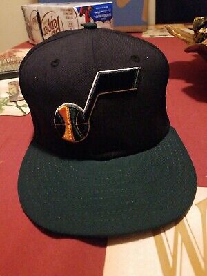 89ff8739 Utah Jazz New Era Official Team Color 2Tone 59FIFTY Fitted Hat - Navy/Green