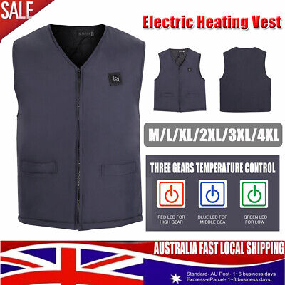 6 Size Electric Vest Heated Vest USB Warm Up Heating Body Winter Warmer Unisex