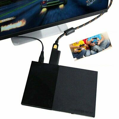 PS2 to HDMI Audio Video Cable Converter Adapter with 3.5mm Output Monitor TU