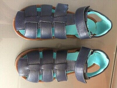 Boys Blue Leather Sandals Size 34 (2)- New